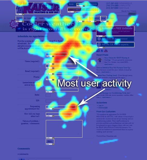 Site Map Example: Heat Maps Show Engagement